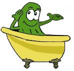 pickle tub mascot